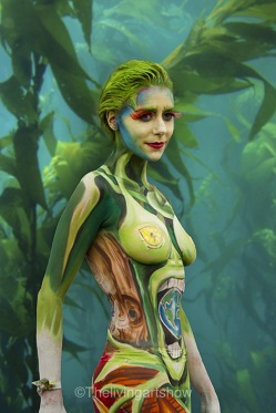 Body painting design- Artiste Maria Cribbens Model Louise