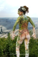 Body painting design- Artiste Dee Love Model Sarah Impey