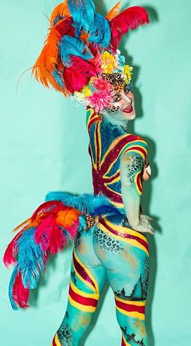 glitter design body art